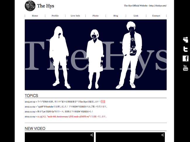 The Hys Official Website